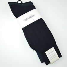 3 Pack NWT CALVIN KLEIN Combed Cotton Blend Dress Crew Socks Sz 7-12 Navy