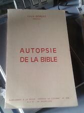 DORLET Louis. Autopsie de la Bible.