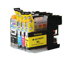 4PK NON-OEM INK CARTRIDGE BROTHER LC-101 LC-103 XL MFC-J450DW MFC-J470DW J4710DW
