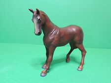 PAPO ancien Figurine cheval étalon marron Stallion Hengst Horse Pferd 2003 China