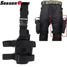 Airsoft Tactical Hunting Pistol Drop Leg Thigh Left Hand Holster Pouch Black