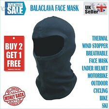 Motorcycle Motorbike Thermal Balaclava Ski Face Mask Under Helmet Neck Warmer UK