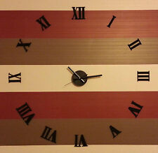 Reloj de pared hágalo usted mismo 3D sin marco Romano personal Decoración del hogar