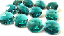 50 Caribbean Green Chandelier Crystal Beads Octagon Prism Suncatcher Octagons