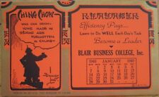 1940 Stanley Link, ''Ching Chow'' AD Calendar / Blotter