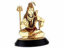Car Dashboard Statue Religious Lord Shiva God Shankar Wood Carved figurine