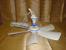"110V 16.5"" PORTABLE 6 BLADE HANGING MINI CEILING FAN EASY HANG & POWER W AC PLUG"