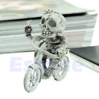 New Fashion Creative Bike Skull Purse Bag Rubber KeyChain Keyring Gift Key Chain