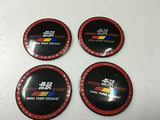 MUGEN CAR WHEEL CENTER CAPS 3D SOLID BADGE STICKER 65MM / 2.56 INCH X 4 PIECES