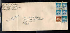 1949 Shanghai China airmail Cover to Elgin Illinois USA