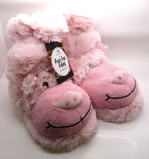 Pig Piggy Pink Ankle Slippers Fun for Feet Slipper Socks by Aroma Home One Size