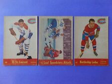 LOT OF 3 DIFFERENT 1955-56 PARKHURST HOCKEY MONTREAL CANADIENS CARDS w/PLANTE IA
