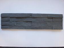 Musterstück ca. 15x30cm der Naturstein Wandverblender anthrazit Riemchen 15x60cm
