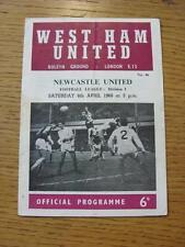 06/04/1968 West Ham United v Newcastle United  (Crease, Faint Marks, Team Change