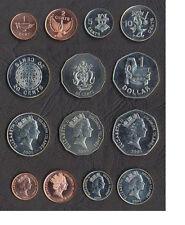 SOLOMON ISLANDS: 7 PIECE UNCIRC COIN SET, $0.01 to $1