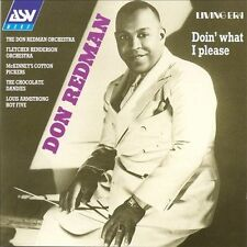 Doin' What I Please by Don Redman & His Orchestra (CD, Sep-1993, ASV/Living Era)