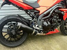 Triumph Speed Triple 1050 2005 to 2010 Black Oval, Carbon Outlet Low Exhaust Can