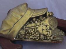 Train Engineer Conductor Hat 1982 Baron Brass Belt Buckle