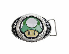 Super Mario belt buckle - Nintendo Super Mario Brothers mushroom belt buckle