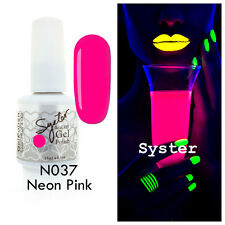 SYSTER 15ml Nail Art Soak Off Color UV Lamp Gel Polish N037 - Neon Pink