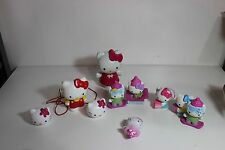 Hello Kitty stocking stuffer toy cake topper figure piggy bank lot kitty cat