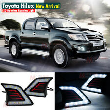 LED Daytime Running Light For Toyota Hilux Vigo Fog Lamp DRL 2011 2012 2013 2014