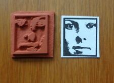 NEW ZETTIOLOGY Teesha Moore MYSTERIOUS LIL ZETTI FACE UNMOUNTED ART RUBBER STAMP