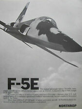 7/1977 PUB NORTHROP F-5E LIGHTWEIGHT FIGHTER US AIR FORCE USAF AD