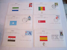 (49) MINT 1982 WORLD CUP STAMP FIRST DAY ISSUE COVERS - ESPANA - IN BOX - & COA