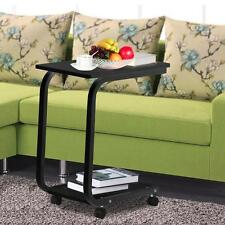 Rolling Laptop Table Multi Uses Moving Desk Bedside Table Over Bed Home/Office