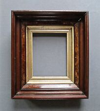 "Antique 19th Century Walnut Eastlake Picture Frame Gold Liner 10 1/4"" x 8 1/4"""