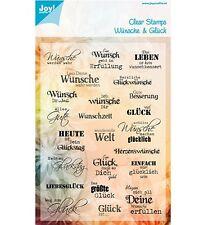 Motiv-Stempel Clearstamps Wünsche&Glück Sprüche deutsch Text JoyCrafts 6410/0359