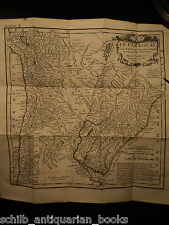 1729 Jesuit Voyages HUGE Paraguay South America Indians Mission MAP Asia China +