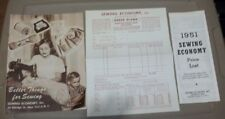 Better Things for Sewing, Sewing Economy Catalog (1950) Plus Pricelist