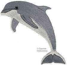 BOTTLENOSE DOLPHIN EMBROIDERED PATCH iron-on PORPOISE applique OCEAN MAMMAL new