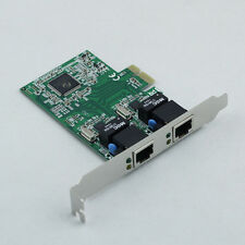 PCI-E Express 10/100/1000M Dual 2 Port RJ45 Gigabit Ethernet LAN Network Card CI
