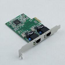 PCI-E Express 10/100/1000M Dual 2 Port RJ45 Gigabit Ethernet LAN Network Card CI