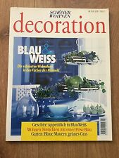 Schöner Wohnen Decoration Zeitschrift Ausgabe 3/99 - BLAU & WEISS