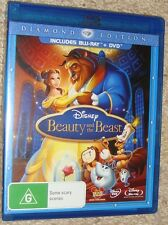 LIKE NEW Blu-Ray & DVD 3 DISC Beauty and the Beast DIAMOND Edition