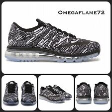 Sz 11.5 Nike Air Max 2016 Print Black White Men's Running Shoes 818135-100