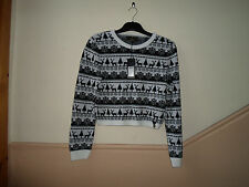 NEW TAGS WAS £35 SIZE 16 LIPSY CHRISTMAS CARDIGAN FAIRISLE MONOCROME
