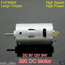 DC6V 12V 24V 26000RPM High Speed Large Torque 390 DC Motor für Electic Drill DIY