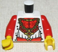 LEGO NEW KINGDOMS KING TORSO RED AND WHITE MINIFIGURE PIECE