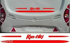 KON-TIKI CARAVAN/MOTORHOME 2 PIECE KIT DECALS CHOICE OF COLOURS & SIZES #3