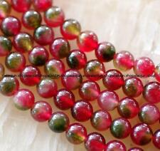 Natural 6mm Multicolor Tourmaline Round Loose Beads 15'' AAA