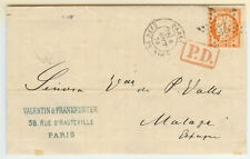 France cover - 1874 Paris to Malaga (Spain) - Fresh