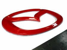 FOR MAZDA RED EMBLEMS BADGE LOGO DECALS PLATE STICKER