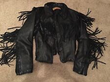Nice! *EasyRiders Leather Fringe Motorcycle Crop Coat Jacket* Western 44 Large?