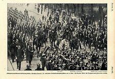 Der Kaiser beim 1. Gardereg. z. f. und beim Lehrinfanteriebataillon Potsdam 1901
