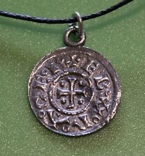 Replica Viking Jorvik York Penny Coin Pewter Pendant Necklace